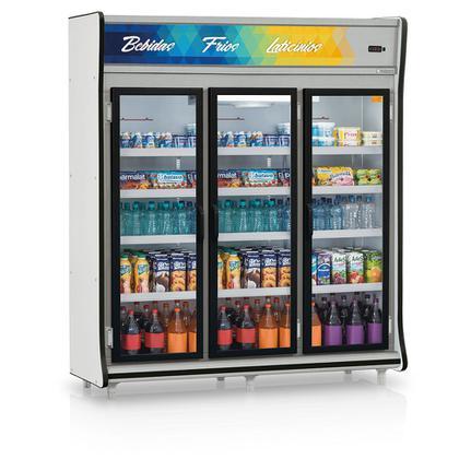 Geladeira/refrigerador 1352 Litros 3 Portas Cinza - Gelopar - 220v - Gevp-3p