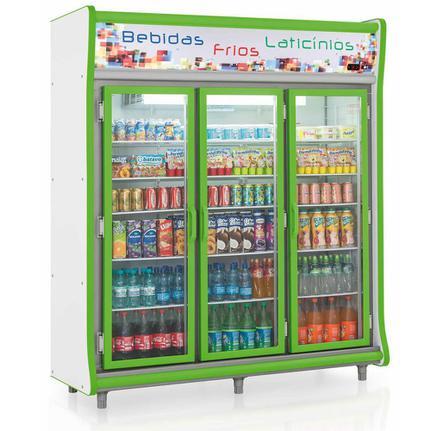 Geladeira/refrigerador 1352 Litros 3 Portas Verde - Gelopar - 220v - Gevp-3p