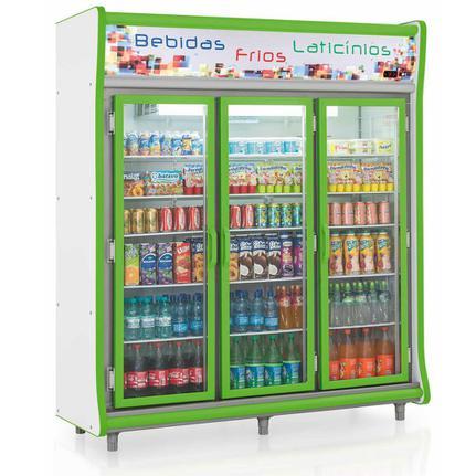 Geladeira/refrigerador 1352 Litros 3 Portas Verde - Gelopar - 110v - Gevp-3p
