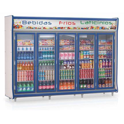 Geladeira/refrigerador 2212 Litros 5 Portas Azul - Gelopar - 220v - Gevp-5p