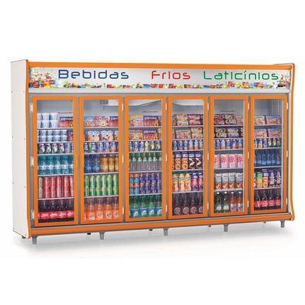 Geladeira/refrigerador 2642 Litros 6 Portas Laranja - Gelopar - 220v - Gevp-6p