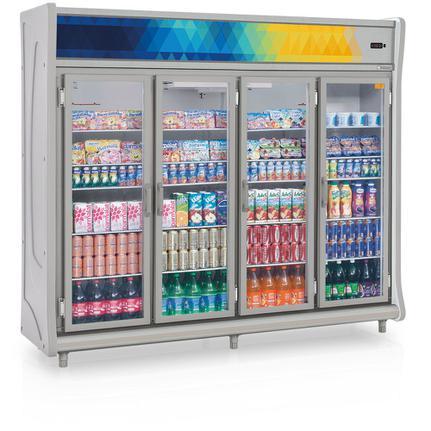 Geladeira/refrigerador 1783 Litros 4 Portas Cinza - Gelopar - 220v - Gevt-4p