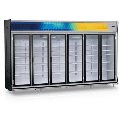 Geladeira/refrigerador 2642 Litros 6 Portas Preto - Gelopar - 220v - Gevt-6p