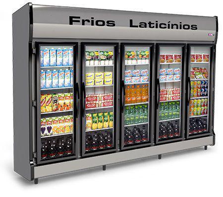 Geladeira/refrigerador 2270 Litros 5 Portas Cinza - Conservex - 220v - As-5/e