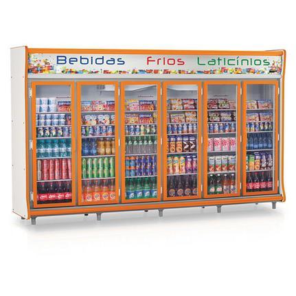 Geladeira/refrigerador 2642 Litros 6 Portas Cinza - Gelopar - 220v - Gevp-6p