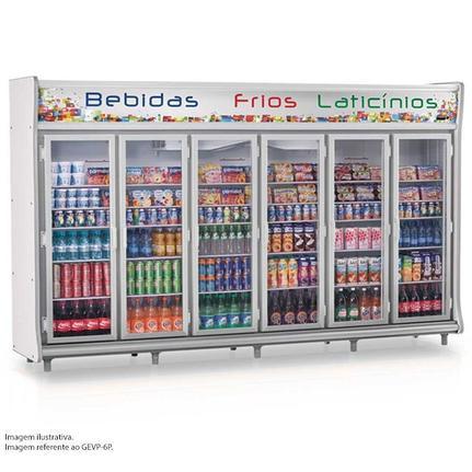 Geladeira/refrigerador 3564 Litros 6 Portas Cinza - Gelopar - 110v - Gevp-8p