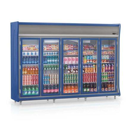 Geladeira/refrigerador 2212 Litros 5 Portas Azul - Gelopar - 220v - Gevt-5p