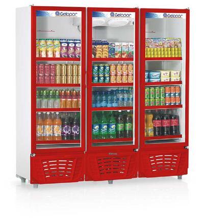 Geladeira/refrigerador 1468 Litros 3 Portas Azul - Gelopar - 110v - Grvc1450