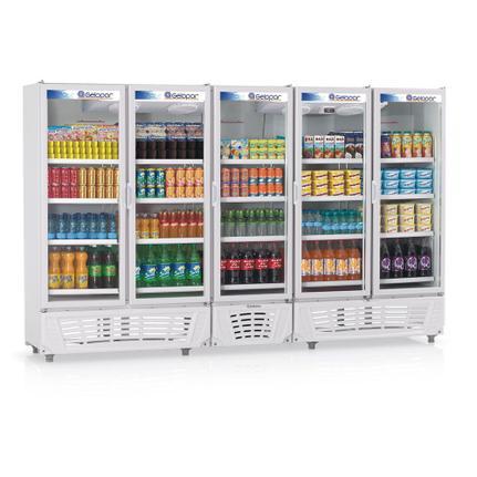 Geladeira/refrigerador 2492 Litros 5 Portas Azul - Gelopar - 220v - Grvc2500
