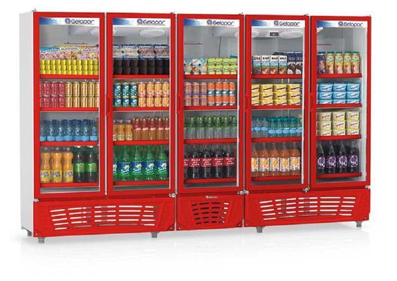 Geladeira/refrigerador 2492 Litros 5 Portas Azul - Gelopar - 110v - Grvc2500