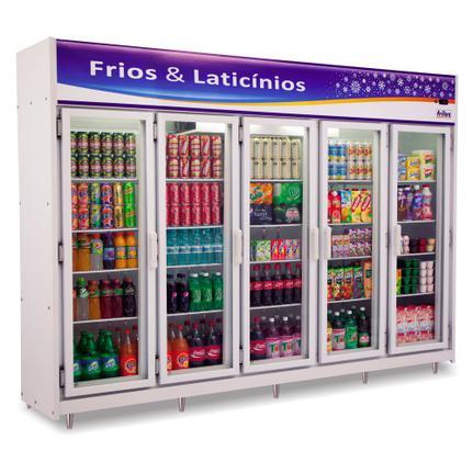 Geladeira/refrigerador 1720 Litros 5 Portas Preto - Frilux - 220v - Rf024