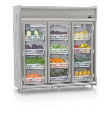 Geladeira/refrigerador 1490 Litros 3 Portas Cinza - Gelopar - 110v - Gehf-3p