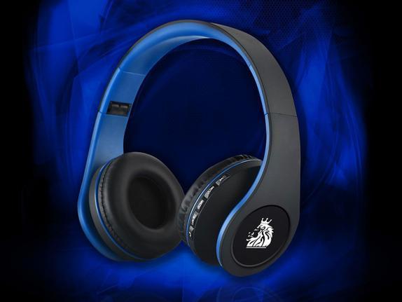 Fone de Ouvido Headphone Com Microfone Bluetooth Soundshine Azul El Shaddai Bt200