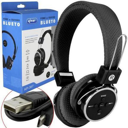 Fone de Ouvido Headphone Bluetooth 3.0 Sd Card P2 Knup Kp-367
