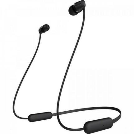 Fone de Ouvido Headphones Intra-auriculares Sem Fio Preto Sony Wi-c200/bc