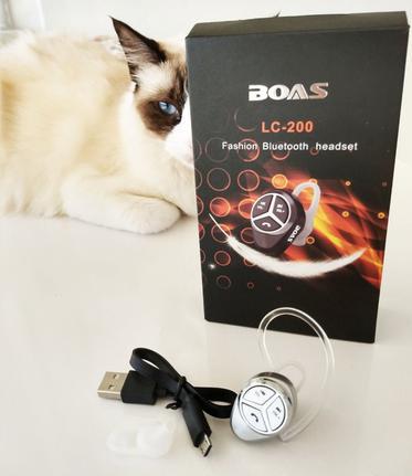 Fone de Ouvido Headset Bluetooth Wireless Boas Lc-200