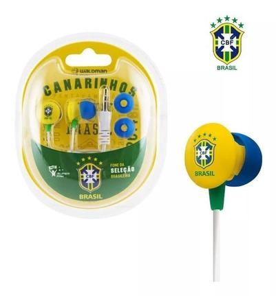 Fone de Ouvido Seleção Brasileira Waldman Sb-10-cbf