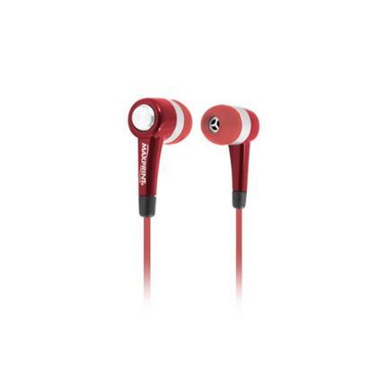 Fone de Ouvido Intra-auricular Maxsound Vermelho Maxprint 6011497