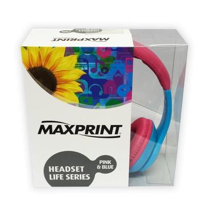 Fone de Ouvido Headphone Life Series Azul e Rosa Maxprint 6012130