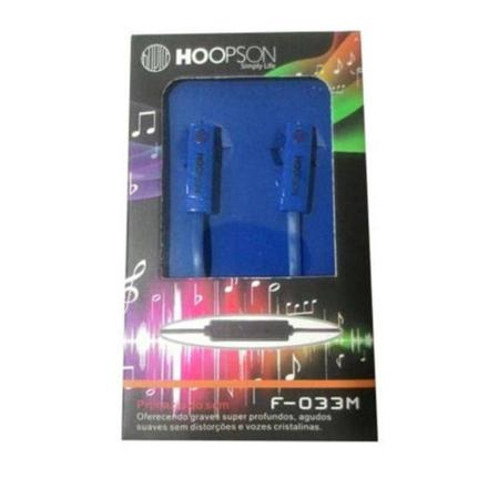 Fone de Ouvido Intra-auricular Azul Hoopson F-033m