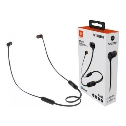 Fone de Ouvido Intra-auricular Bluetooth Tune Preto Jbl Jblt110btblk