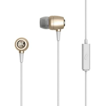 Fone de Ouvido Intra-auricular Earbuds Metal Dourado Motorola Sh009gd
