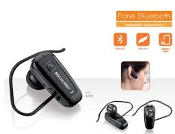 Fone de Ouvido Earphone Bluetooth Preto Multilaser Au200