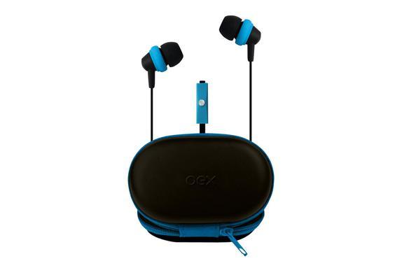 Fone de Ouvido Intra-auricular Com Case Azul Oex Fn406