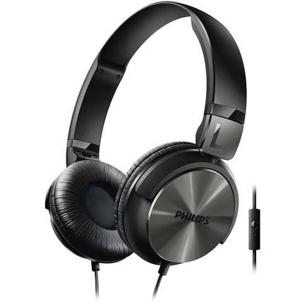 Fone de Ouvido Headphone Dj Com Microfone Preto Philips Shl3165bk/00