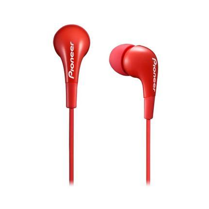 Fone de Ouvido Intra-auricular Com Controle Vermelho Pioneer Se-cl502-r