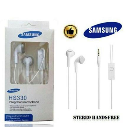 Fone de Ouvido Auricular Branco Samsung Hs330