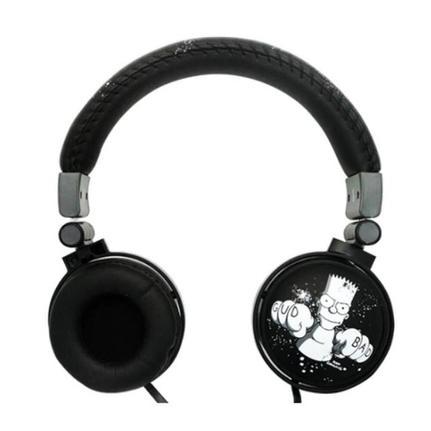 Fone de Ouvido Headphone Com Microfone The Simpsons Bart Preto Iwill Bsmg009