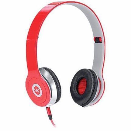 Fone de Ouvido Headphone Dobrável Vbass V1 Vermelho Vinik