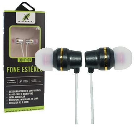 Fone de Ouvido Estéreo Extra Bass C/ Microfone Extra Bass Xc-f-03