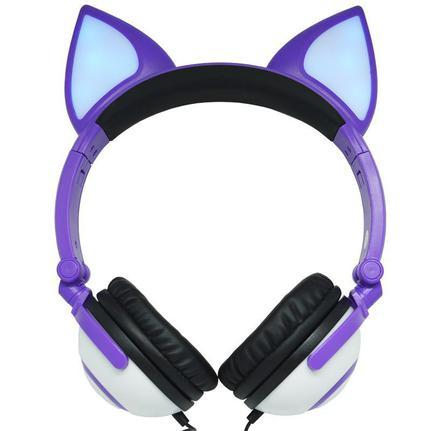 Fone de Ouvido Headphone Orelha Gato Ear Cat Exbom Hf-c30