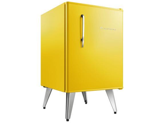 Geladeira/refrigerador 76 Litros 1 Portas Amarelo Retrô - Brastemp - 220v - Bra08bybna