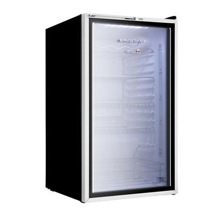 Geladeira/refrigerador 120 Litros 1 Portas Cinza Compacto Club - Brastemp - 220v - Bza12afbna