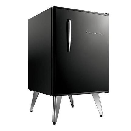 Geladeira/refrigerador 76 Litros 1 Portas Preto Retrô - Brastemp - 110v - Bra08aeana