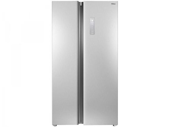 Geladeira/refrigerador 489 Litros 2 Portas Inox Side By Side - Philco - 220v - Prf504i