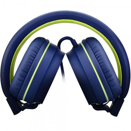 Fone de Ouvido Headphone Fun Azul e Verde Pulse Sound Ph162