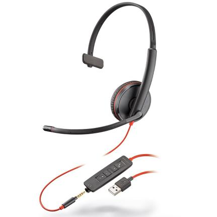 Fone de Ouvido Headset Blackwire Plantronics C510