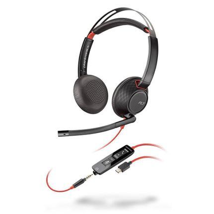 Fone de Ouvido Headset Blackwire Plantronics C5220
