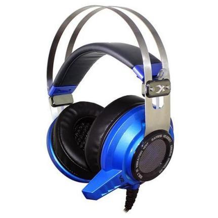 Fone de Ouvido Headphone Gamer Com Vibração 7.1 Azul Leadership V2
