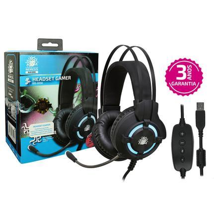 Fone de Ouvido Headset Gamer 7.1 Black Series Nemesis Nm-2212