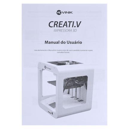 Impressora 3d Vinik Creati.v Fdm Colorida Usb Bivolt