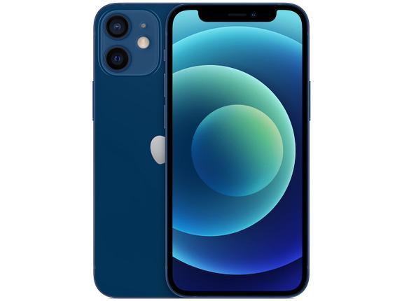 Celular Smartphone Apple iPhone 12 Mini 256gb Azul - Dual Chip