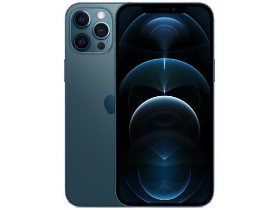 Celular Smartphone Apple iPhone 12 Pro Max 256gb Azul - Dual Chip
