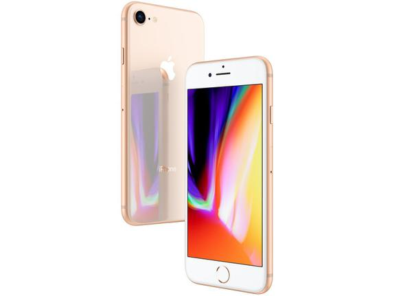 Celular Smartphone Apple iPhone 8 128gb Dourado - 1 Chip