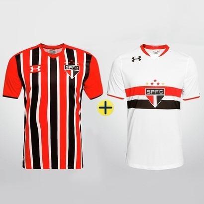 8a83b48f208 Kit 2 Camisas Branca + Listrada Sao Paulo Under Armour 2016 - Camisa ...
