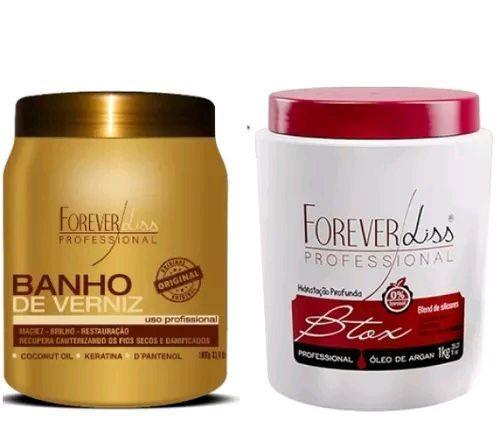 f7fef1d36 Kit Botox Capilar Oleo Argan 1kg + Banho De Verniz 1kg - Forever ...